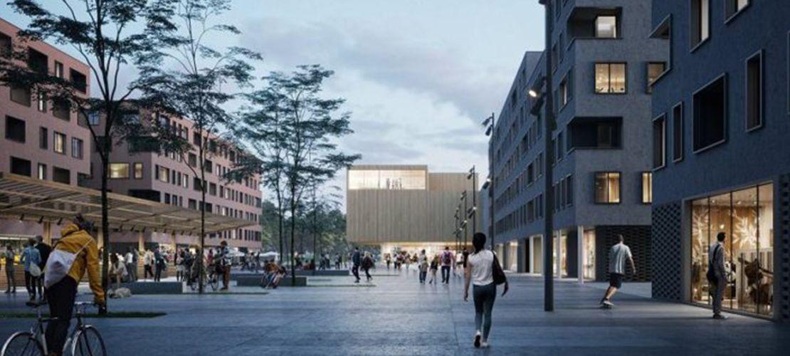 Projekt osiedla Mieszkanie Plus nagrodzony naszczycie klimatycznym wKatowicach